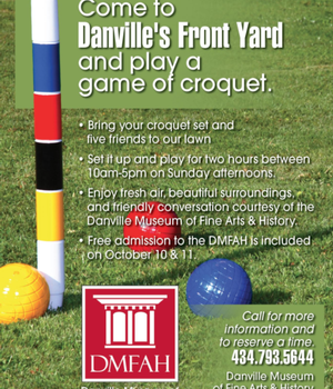 Bring your croquet set and five friends to the Museum lawn