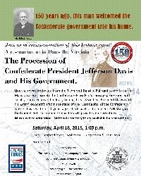 Procession of Confederate President Jefferson Davis