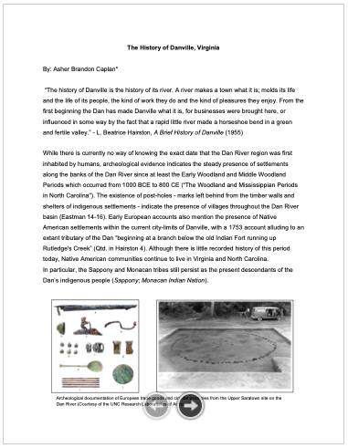 The History_Danville_pg1